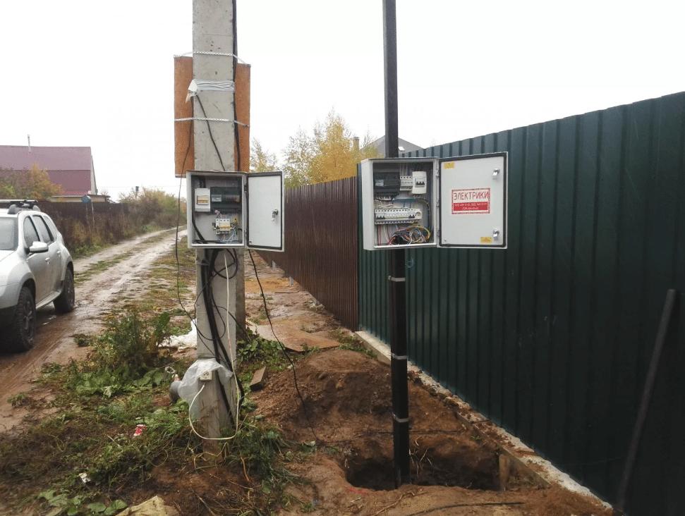 Подключение электричества к частному дому или участку