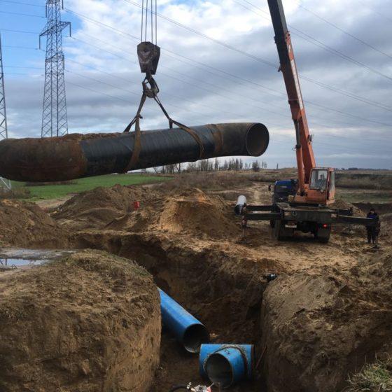 Вынос водопровода из зоны строительства