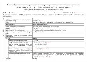 Выписка из ЕГРН о зарегистрированных договорах долевого участия